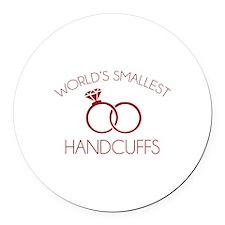 World's Smallest Handcuffs Round Car Magnet