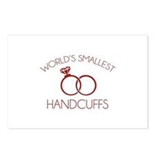 World's Smallest Handcuffs Postcards (Package of 8