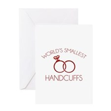 World's Smallest Handcuffs Greeting Card