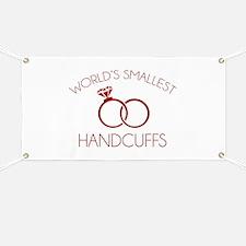 World's Smallest Handcuffs Banner