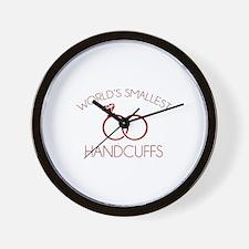 World's Smallest Handcuffs Wall Clock