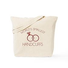 World's Smallest Handcuffs Tote Bag