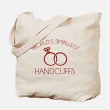 World's Smallest Handcuffs Tote Bag