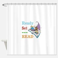 Ready Set Read Shower Curtain