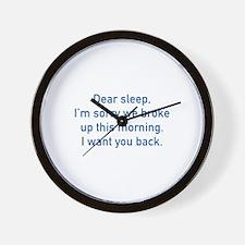 Dear Sleep Wall Clock