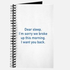 Dear Sleep Journal