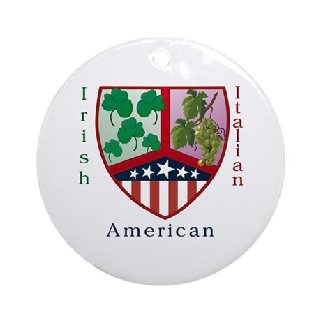 Irish Italian American Ornament (Round)