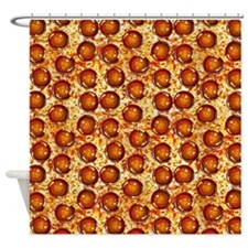 Pepperoni Pizza Shower Curtain