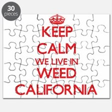 Keep calm we live in Weed California Puzzle