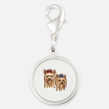 YORKSHIRE TERRIER HEADS Charms