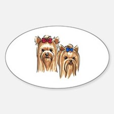 YORKSHIRE TERRIER HEADS Decal