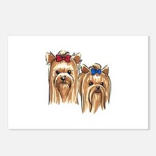 YORKSHIRE TERRIER HEADS Postcards (Package of 8)
