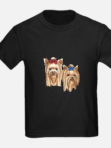 YORKSHIRE TERRIER HEADS T-Shirt