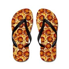Pepperoni Pizza Flip Flops