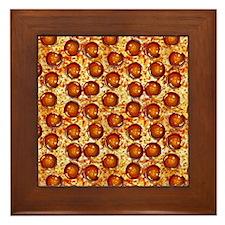 Pepperoni Pizza Framed Tile