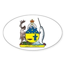 Nunavut Coat of Arms Oval Decal