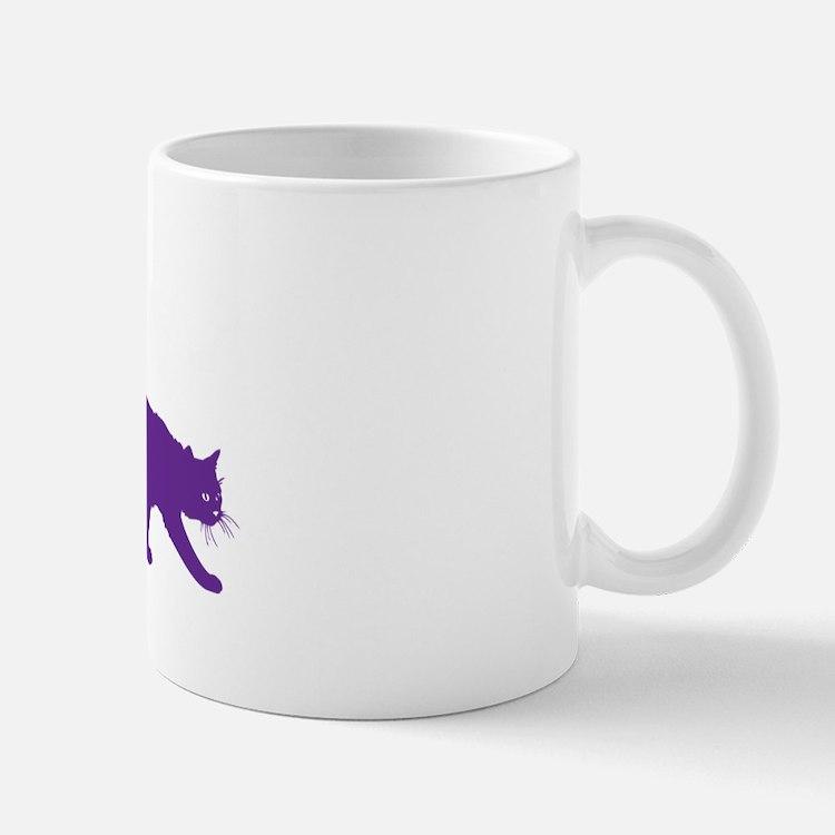 Purple Cat Silhouette Mug Mugs