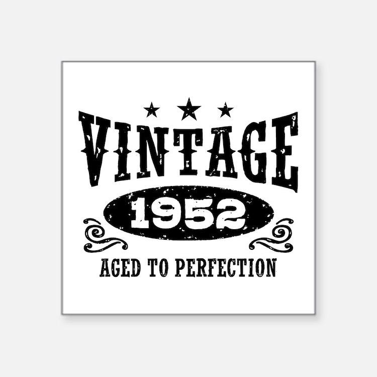 "Vintage 1952 Square Sticker 3"" x 3"""