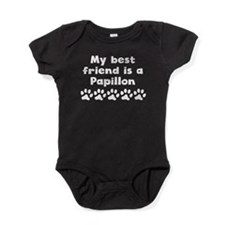 My Best Friend Is A Papillon Baby Bodysuit