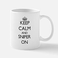 Keep Calm and Sniper ON Mugs