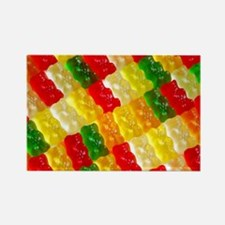 Colorful rows of gummi bears Magnets