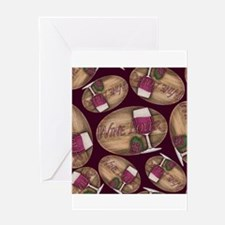 Wine Lover Wood Board Greeting Cards