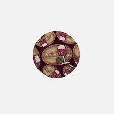 Wine Lover Wood Board Mini Button
