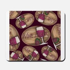 Wine Lover Wood Board Mousepad