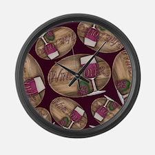 Wine Lover Wood Board Large Wall Clock