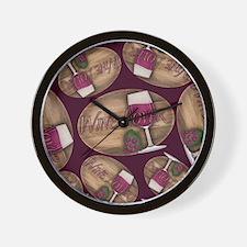 Wine Lover Wood Board Wall Clock