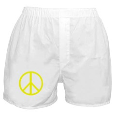 Peace Yellow Boxer Shorts