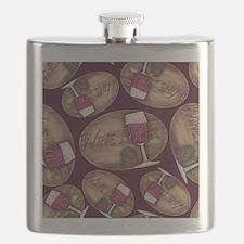 Wine Lover Wood Board Flask