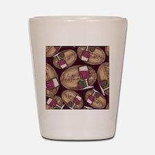 Wine Lover Wood Board Shot Glass