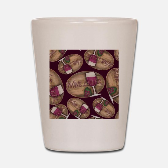 Wine Lover Wood Board Shot Glass