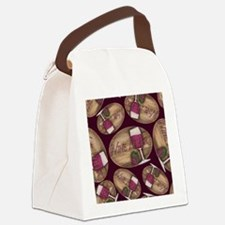 Wine Lover Wood Board Canvas Lunch Bag