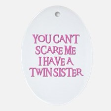 TWIN SISTER Oval Ornament
