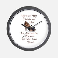 ID RATHER HAVE SHOES Wall Clock