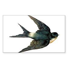 Vintage Swallow Bird Art Decal