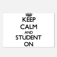 Keep Calm and Student ON Postcards (Package of 8)