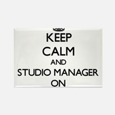 Keep Calm and Studio Manager ON Magnets