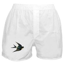 Vintage Swallow Bird Art Boxer Shorts