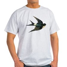 Vintage Swallow Bird Art T-Shirt