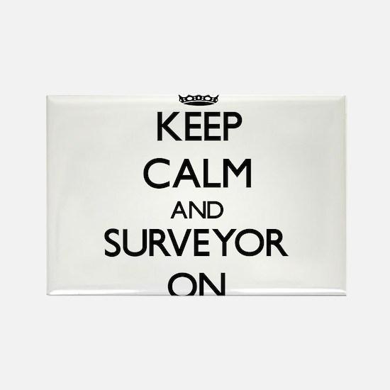 Keep Calm and Surveyor ON Magnets