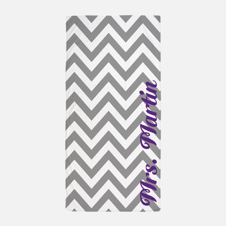 Purple Grey Chevron Home Accessories | Unique Home ...