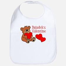 Dziadek's Valentine Cartoon Bear Bib