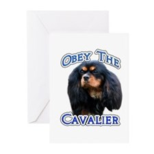 Obey Cavalier Greeting Cards (Pk of 10)