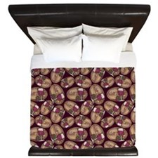 Wine Lover Wood Board King Duvet