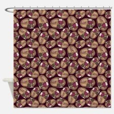 Wine Lover Wood Board Shower Curtain