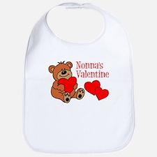 Nonna's Valentine Cartoon Bear Bib