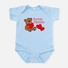 Nonna's Valentine Cartoon Bear Body Suit